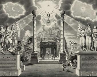 Masonic Columns Print