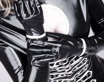 Sexy dominant black Latex dress