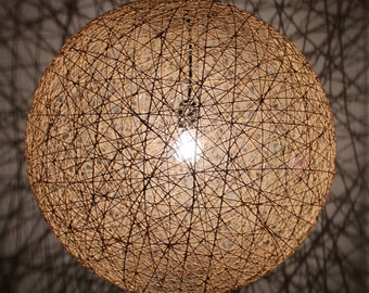April, Modern Hanging Sphere rope Pendant Lamp