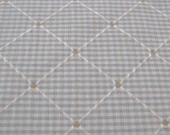 P Kaufmann Teal and Taupe Windowpane Fabric