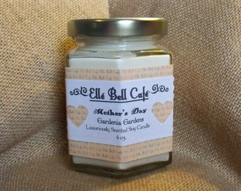 Gardenia Scented Soy Candles, Wood Wick Candle, Hand Poured Candles,  Gardenia Candle, Jar Candles, Wood Wick Soy Candle, Mothers Day Gift