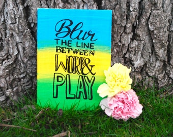 Thin 5x7 inch work & play canvas