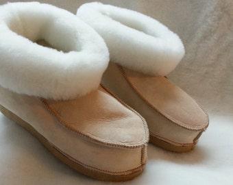 Slippers Sheepskin returned accented