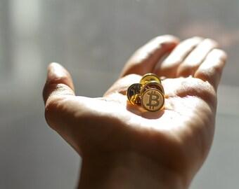 Set of 3 Bitcoin lapel pin (free shipping)