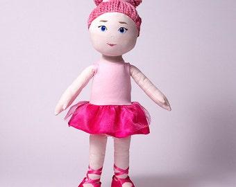 Ballerina doll, handmade, María