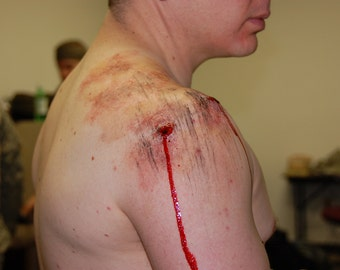 Realistic Gunshot Entry Wound Prosthetic (Silicone)