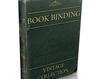 Vintage Bookbinding Books on DVD Alum Book Binding Binder Board