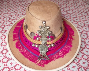 Ibiza leather Hat