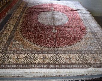 9x12 Special Red turkmen silk rug