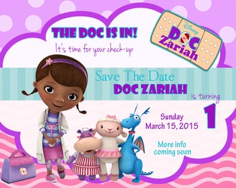 Doc McStuffins Inspired Save The Date