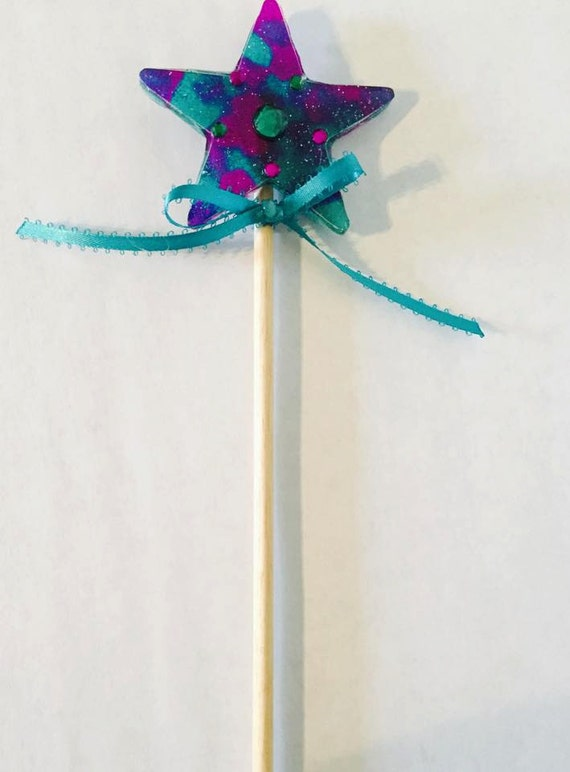 Turquoise/Purple Fairy Wand by SimplybyShaw on Etsy