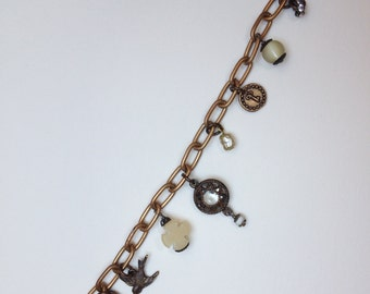 French Industrial Charm Bracelet