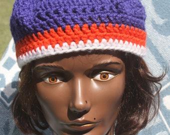 Crochet- Florida Gator Women's Beret- Hats- Women's Hats- Winter Hats- Fall Hats- Caps- Berets- Florida.