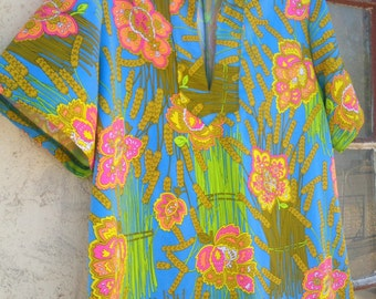 1970s rare psychedelic dress