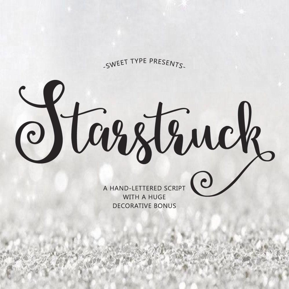 Starstruck Hand Lettered Font Download Calligraphy