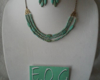 E.O.G- Turquoise and Antique Brass