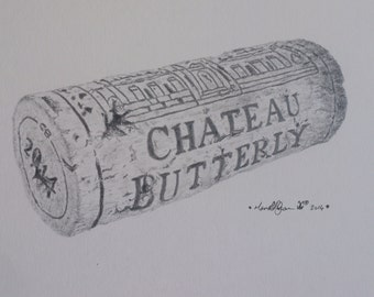 Personalized Wine Cork Picture, Customized Wine Gift,