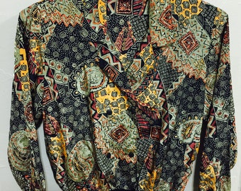 Notations women's blouse women's pullover vintage retro pullover