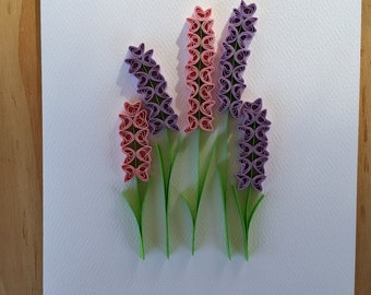 Paper Quilled Hyacinth Flowers Card - 5x7