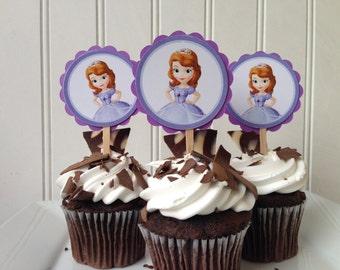 Princess Sophia Cupcake Toppers