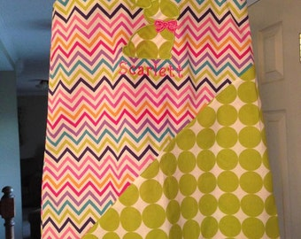 Chevron/dot hand made girls dress