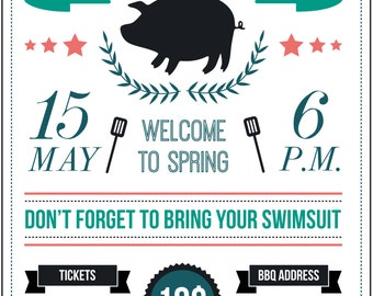 BBQ Party Poster/Invite