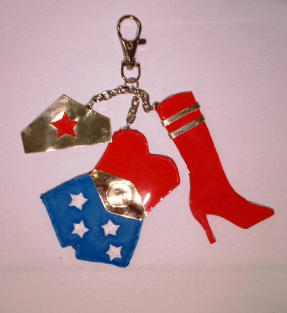 Items Similar To Wonder Woman Mini Outfit Keychain On Etsy