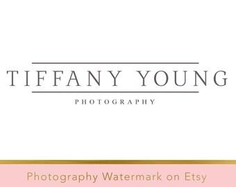 DIY Pre-made Logo Design - Photography Watermark - Photoshop Logo - Photoshop Watermark - PSD Watermark - PSD file  - Typography Logo 15
