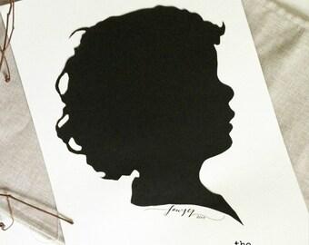 8x10 Hand-Cut Custom Silhouette