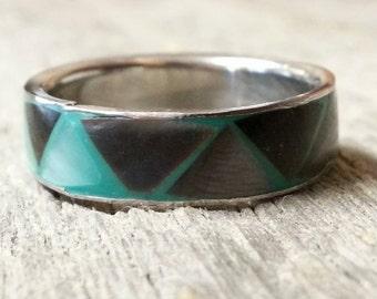 Vintage Paua Shell Ring