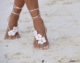 Spring flowers barefoot sandal, beach wedding barefoot sandals, bangle, wedding anklet,nude shoes,barefoot sandals