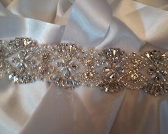 Wedding Belts and Sashes, Crystal Wedding Belt, Beaded Wedding Belt, Rhinestone Wedding Belt,