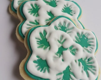 Flower Sugar Cookies Turquoise or any color Decorated Iced Sugar Cookies