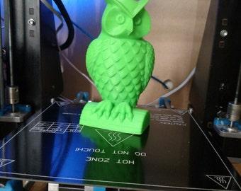 3D Printed Owl Statue