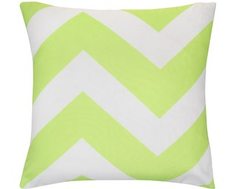 Lime Punch Chevron Zig Zag Geometric Cushion Pillow Cover 45cm x 45xm