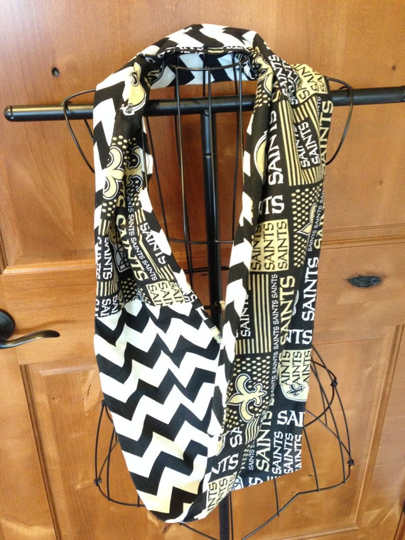 new orleans saints infinity scarf by sewfulofcolor on etsy