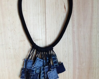 Jewelry Jeans 2 green - collar fringe