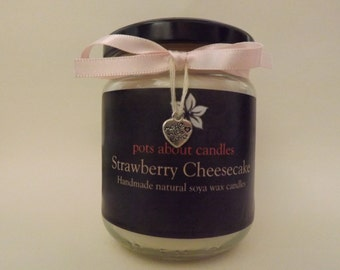 Strawberry Cheesecake Scented Soya Wax Candle