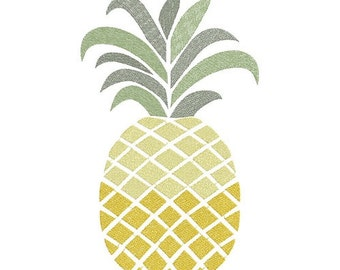 pineapple machine embroidery design