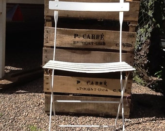 Vintage French Folding Garden Chairs