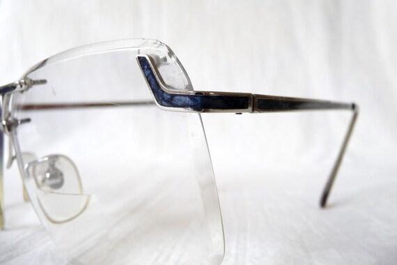 8f70eb1c61f8 Vintage Silver Rimless Saddle Bridge Eyeglasses