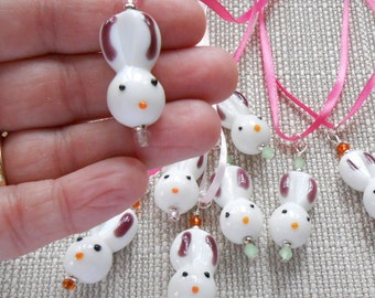 Bunny face Ribbon necklace clearance was 5.00 now 2.50