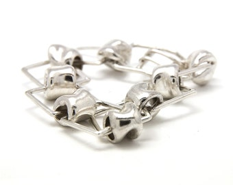 Chunky link bracelet made of 925 Sterling Silver - Birthday gift