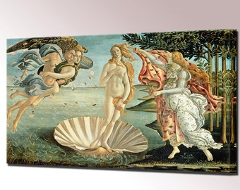Birth of Venus Canvas Print Sandro Botticelli Framed Wall Art Picture Ready To Hang