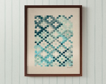 Tapestry in Patina Blue art print