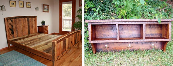 Bed Frames And Cubby Coatracks Are BarnWoodFurnitures Most Popular Items