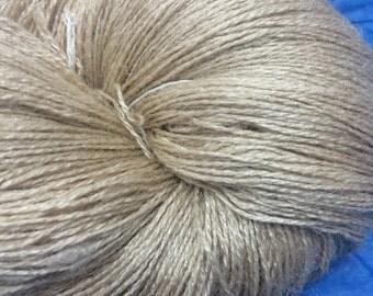 LACE Tussah Silk Undyed Yarn Base, Gossamer 2 Ply Lace Weight Yarn, Undyed Lace Yarn, Tussah Silk Lace Yarn