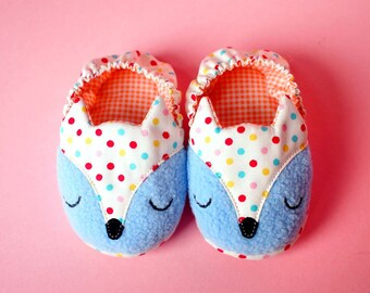 Fox Baby Shoes, Fox Baby Booties, Elastic Baby Booties, Baby Slip Ons, The Fantastic Fox 09