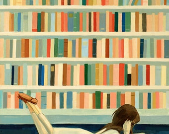 I Saw Her in the Library Print 11x14