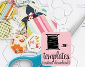 Hexagon Paper Pieces to Print at Home | English Paper Piecing Templates | Hexagon Paper Templates | EPP Hexagons